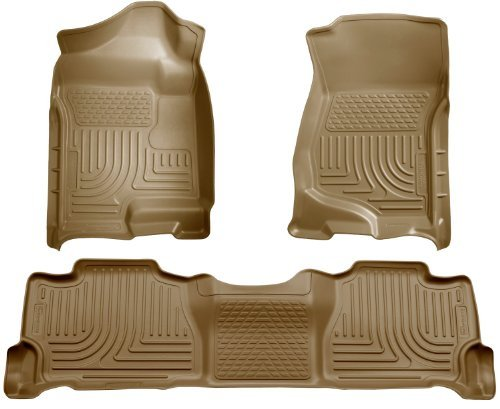 (Husky Liners 98253 WeatherBeater Tan Front and 2nd Seat Floor Liner by Husky Liners)