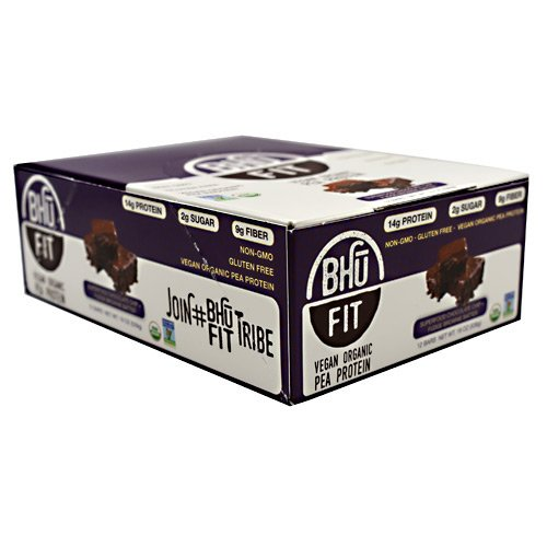 Bhu Foods - BHU Fit Bar, Superfood Chocolate Chip + Fudge Brownie Batter - 1.6oz Each - Box of 12 - Summer Bundle with Cold Pack - 3 Boxes - (Product Image May Vary Based on Manufacturer's Updates)