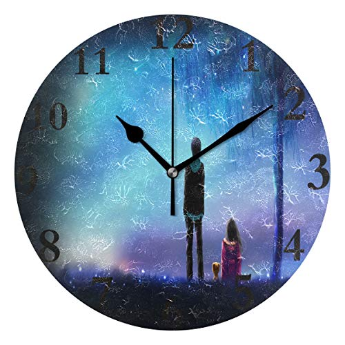 Wall Clock Meteor Love Anime Wallpaper Silent Non Ticking Decorative Round Digital Clocks Indoor Outdoor Kitchen Bedroom Living Room
