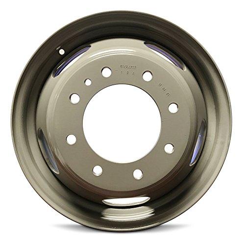Chevy Silverado 3500 (11-16) GMC Sierra 3500 (11-16) Silver 17 Inch 8 Lug New Steel Wheel Rim 17