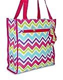 Ever Moda Chevron Tote Bag (Rainbow)