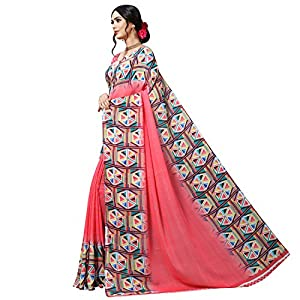 Kashvi sarees georgette with blouse piece Saree (1515_ Multicoloured_ One Size)