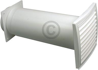 Muro pasaventanas redondo Sistema de conexión extensible con válvula antirretorno y Exterior rejilla para campana, campana: Amazon.es: Grandes electrodomésticos