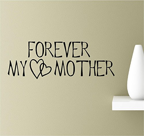 Forever my mother hearts love family Vinyl Wall Art Inspirational Quotes Decal Sticker