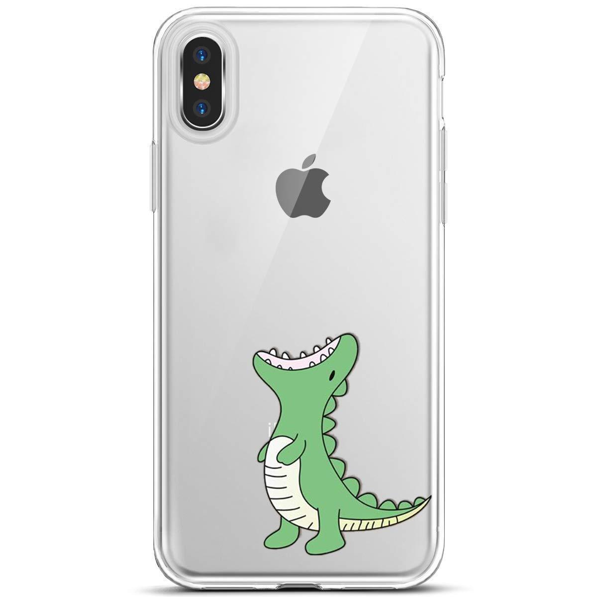 Bunt Muster Sto/ßfest Durchsichtig TPU Flexible Silikon Handyh/ülle Clear Crystal Schutzh/ülle,EINWEG MoreChioce kompatibel mit iPhone XS H/ülle,kompatibel mit iPhone XS Transparent
