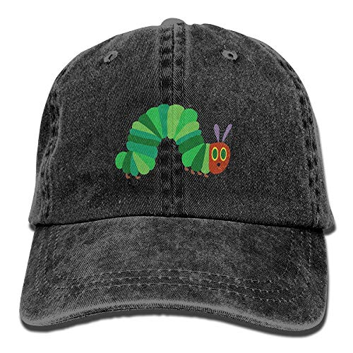 The Very Hungry Caterpillar Vintage Adjustable Cowboy Cap Trucker Cap for Adult Black -