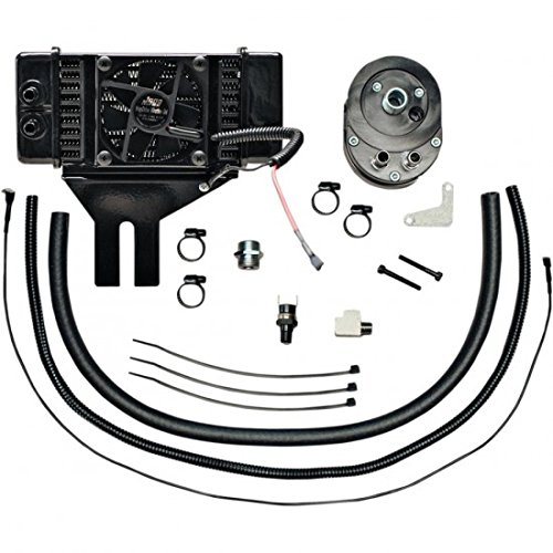 - Jagg Oil Coolers Horizontal Low-Mount 10 Row Fan-Assisted Oil Cooler Kit - Black 751-FP2500