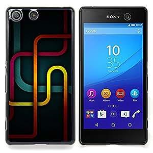 """Qstar Arte & diseño plástico duro Fundas Cover Cubre Hard Case Cover para Sony Xperia M5 E5603 E5606 E5653 (Metro Líneas"""")"""