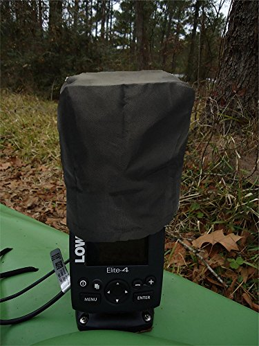 Fishfinder, Depth Finder Sun / Rain Cover for 3 - 4 inch Models - Made with 420D Oxford Nylon with Draw String. Fits popular Lowrance, Garmin, Humminbird models.