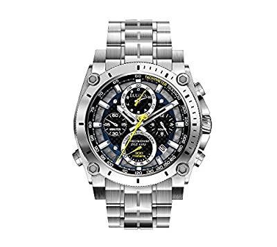 Bulova Men's 47mm Precisionist Stainless Steel Chronograph Watch by Bulova