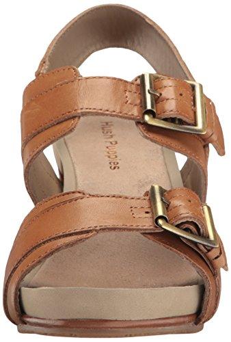 Hush Puppies Leonie Mariska, Zapatos de Tacón Trasero para Mujer Marrón (Tan)