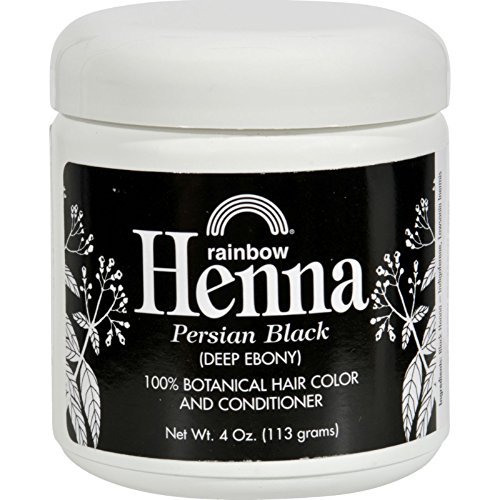 - Rainbow Research Henna Hair Color and Conditioner, Persian Black Deep Ebony, 4 Ounce