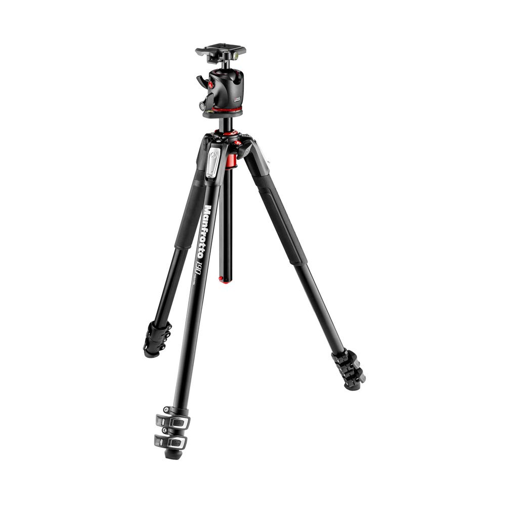 Manfrotto 190XPRO Aluminum 3-Section Tripod Kit with Ball Head (MK190XPRO3-BHQ2) by Manfrotto