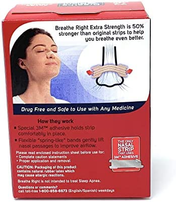 Breathe Right Extra Nasal Strips product image