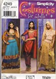 Simplicity Sewing Pattern 4249 - Use to Make - Misses' Costume - Belly Dancing, Indian style outfits - Sizes 6, 8, 10, 12