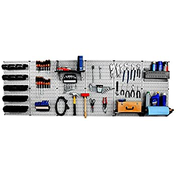 Image of Home Improvements Wall Control 30-WRK-800GB Master Workbench Metal Pegboard Tool Organizer