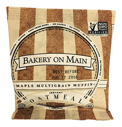 [Bakery On Main Gluten-Free, Non-GMO Ancient Grains Instant Oatmeal, Maple Multigrain Muffin, 1.75 Ounce Single Serve Packets (50 Count)] (Oatmeal Muffin)