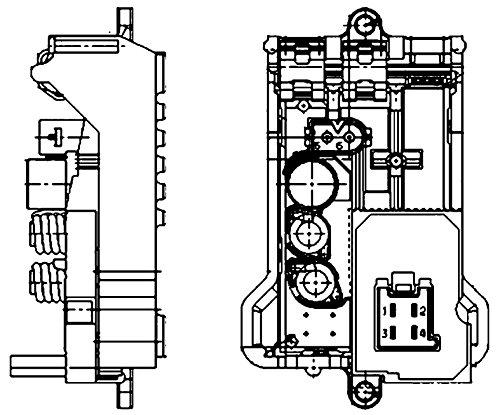 Behr Hella Service 351321141 Premium HVAC Blower Regulator Mercedes Benz Applications ()