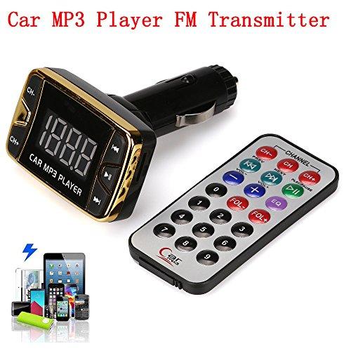 (HHmei MP3 Player Wireless FM Transmitter Modulator Car Kit USB SD TF MMC LCD Remote)