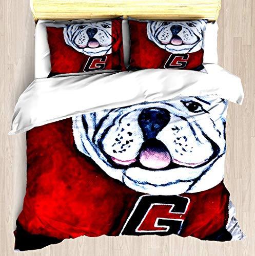 georgia bulldogs comforter queen - 9