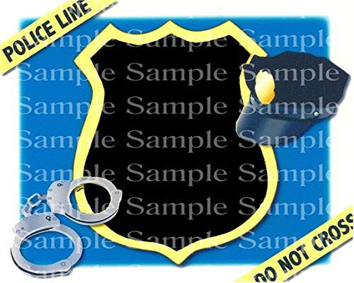 Police Batch cupcake toppers.