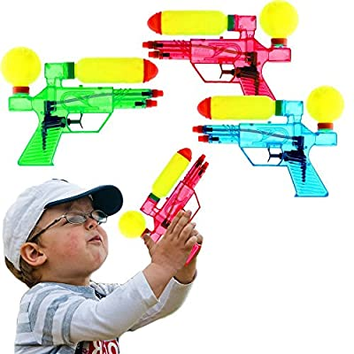 Double Barreled Squirt Water Guns Kids Outdoor Toy- 6 Pieces: Toys & Games