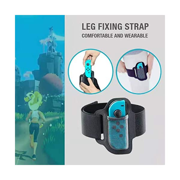SweetCom Ring-Con Grips and Adjustable Leg Fixing Strap for Nintendo Switch Fit Adventure Game (NOT Include Ring-Con) 5