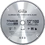 GilaTools 12-inch 100 Teeth TCG Non-Ferrous Metal Cutting Carbide Saw Blade