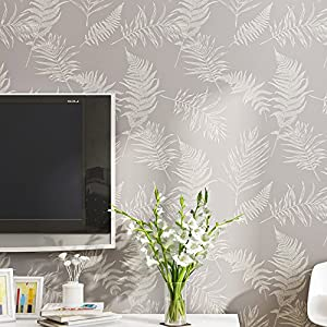 Nice Houzz Modern Wallpaper Purple Leaves Elegant Easy To Remove Home Dcor For Living RoomBedroomGirls RoomLilac Plant Wall Paper