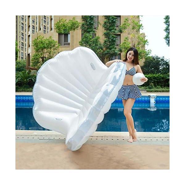 ZLYFA Piscina Gonfiabile di Bianco Shell per La Fila di Galleggiamento dell'Acqua della Chaise-Lounge della Sedia 6 spesavip