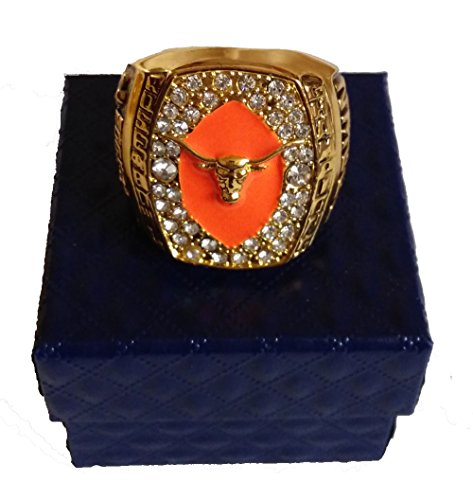 for YIYICOOL fans' collection 2004 Rose Bowl college football Texas Longhorns championship rings size (Texas Longhorns Rose)