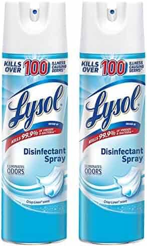 Lysol Disinfectant Spray, Crisp Linen, 38oz (2X19oz)