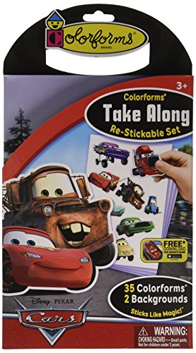 Colorforms Brand Disney Cars Take Along Restickable Set