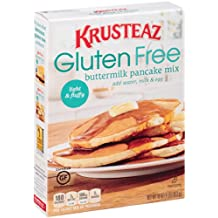 Krusteaz Gluten Free Buttermilk Pancake Mix, 16-Ounce Boxes (Pack of 8)