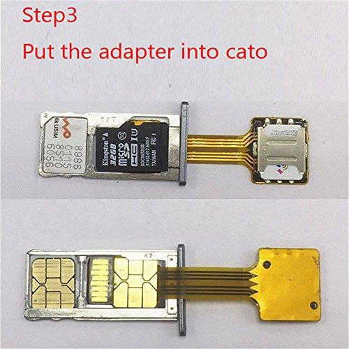 Dual SIM Card Adapter, Adv-one Nano Micro Mini SIM Adapter
