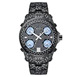 JBW Luxury Men's Jet Setter 2.34 Carat Diamond Wrist Watch with Stainless Steel Link Bracelet