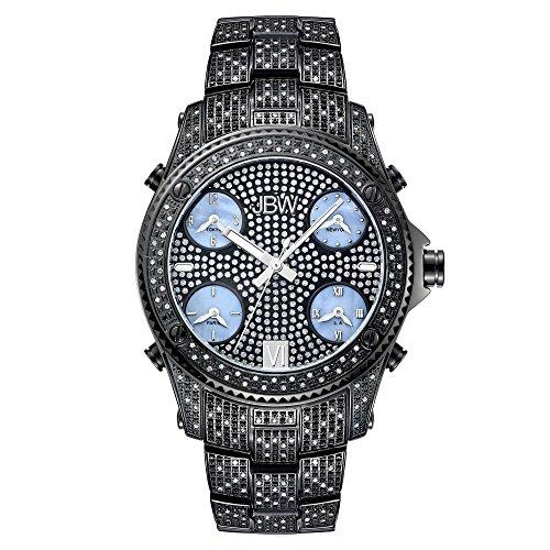JBW Luxury Men's Jet Setter 234 Diamonds Five Time Zone Swiss Movements Watch