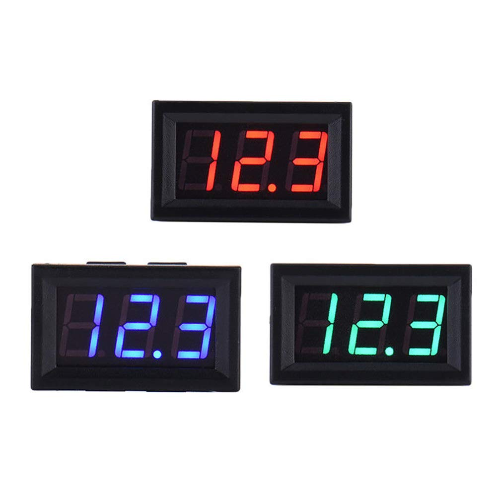 Gyswshh DC4.5-30V LED Digital Voltmeter Voltage Panel for 6//12V Electromobile Motorcycle Blue