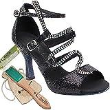 "Women's Ballroom Dance Shoes Tango Wedding Salsa Shoes Sera7017EB Comfortable-Very Fine 2.5""[Bundle of 5]"