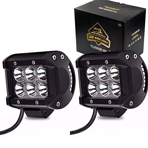 Honda Driving Lights (TURBOSII Spot 4In Pods Cube Led Work Lights Bumper Grill Offroad Backup Reverse Fog Lights Auxiliary Driving Headlight for SUV Honda Truck Motorcycle Kawasaki Mule Jeep Wrangler Boat Tractor UTV F150)
