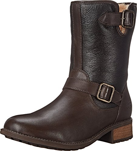ugg-womens-chaney-brown-twinface-leather-boot-10-b-m