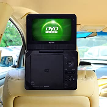 tfy car headrest mount for portable dvd player. Black Bedroom Furniture Sets. Home Design Ideas