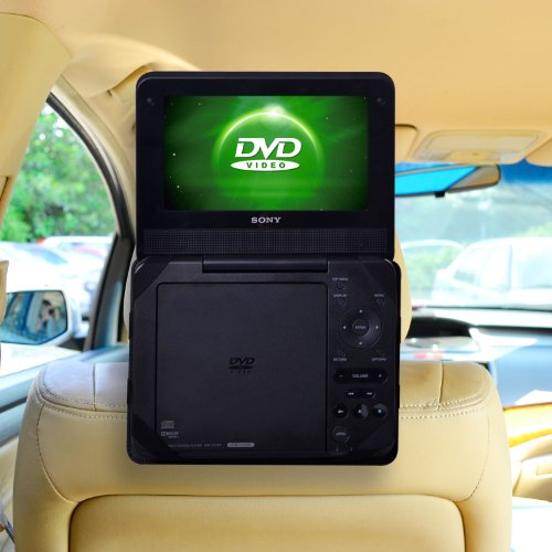 TFY Car Headrest Mount compatiable with Portable DVD Player-9 Inch