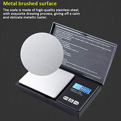 Fine Scale joyliveCY Digital Pocket Scale 0.01 x 100 g Digital Precision Scale LCD Backlight Jewelry Scale Tare Function for Tablets Jewelry