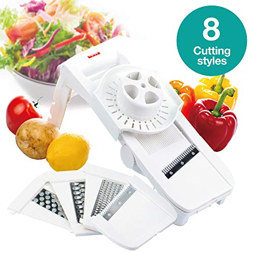 Andcolors 8-in-1 SUPER SLICER, Handheld Mandoline Slicer,