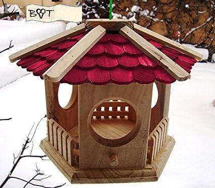 BTV-S25 - Caseta para pájaros, varios colores, madera, ROT LASIERT