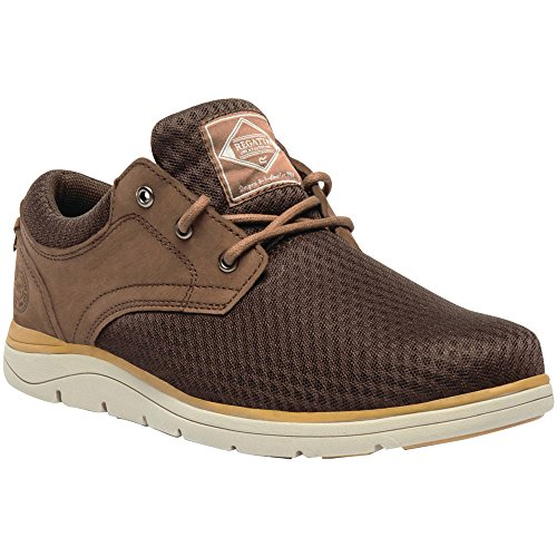 Regatta Mens Caldbeck Lite Breathable Padded Nubuck Mesh Trainers IndianChestn