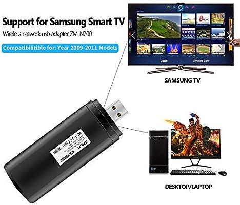 ZMLM - Adaptador WiFi USB para Samsung Smart TV, 802.11ac 2.4 GHz y 5 GHz Dual-Band (Modelos 2009 – 2011) Wireless Network WiFi LAN Adaptador Stick para Samsung TV Windows 10/8/8.1/7/Vista/XP/2000: Amazon.es: Electrónica