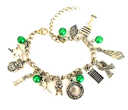 Doctor Who Charm Bracelet - Costume Jewelry Gifts Merchandise For Girls -