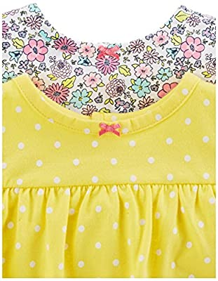 Simple Joys by Carter's Girls' 3-Pack Romper, Sunsuit and Dress, Pink Dot/Floral/Yellow Bird, 3-6 Months by Carter's Simple Joys - Private Label that we recomend individually.